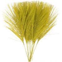 Piume artificiali, L: 15 cm, L: 8 cm, verde, 10 pz/ 1 conf.