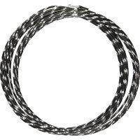 Filo di aluminio, diamantato, spess. 2 mm, nero, 7 m/ 1 rot.