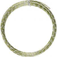 Filo di aluminio, diamantato, spess. 2 mm, verde, 7 m/ 1 rot.
