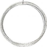 Filo di aluminio, diamantato, spess. 2 mm, argento, 7 m/ 1 rot.