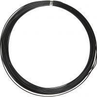 Filo di alluminio, rotondo, spess. 1 mm, nero, 16 m/ 1 rot.