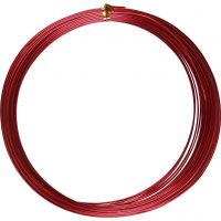 Filo di alluminio, rotondo, spess. 1 mm, rosso, 16 m/ 1 rot.