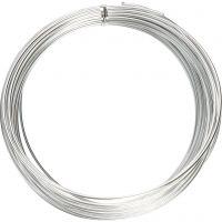 Filo di alluminio, rotondo, spess. 2 mm, argento, 10 m/ 1 rot.