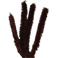 Filo di ciniglia, L: 40 cm, spess. 30 mm, marrone, 4 pz/ 1 conf.