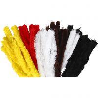 Filo di ciniglia, L: 40 cm, spess. 30 mm, colori asst., 48 pz/ 1 conf.