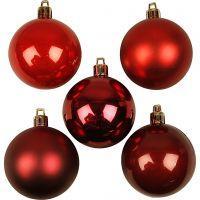 Decorazioni di Natale, diam: 6 cm, armonia rosso, 20 pz/ 1 conf.