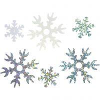 Lustrini , diam: 25+45 mm, azzurro, argento, bianco, 30 g/ 1 conf.