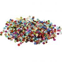 Lustrini , rotondi, diam: 6 mm, 10 g/ 1 conf.