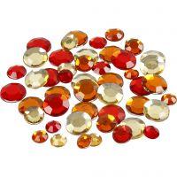 Strass, rotondo, misura 6+9+12 mm, armonia rosso, 360 pz/ 1 conf.