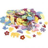 Lustrini, misura 15-45 mm, colori perlati, 400 g/ 1 conf.