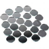 Tessere a specchio per mosaico, rotondo, diam: 18 mm, 400 pz/ 1 conf.