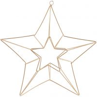 Decoro pendente, stella, misura 34x30 cm, ottone, 1 pz