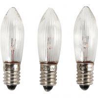 Lampadine a LED, H: 45 mm, diam: 15 mm, 3 pz/ 1 conf.