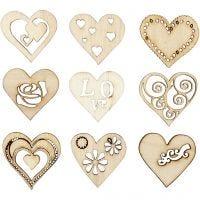 Decorazioni in legno, love, misura 28 mm, 45 pz/ 1 conf.