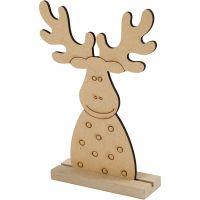 Sagoma di Natale, Renna, H: 15 cm, P 3 cm, L: 11 cm, 1 pz