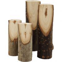 Ramo di albero decorativo tagliato ad angolo, H: 8+12 cm, diam: 2,5-3,5 cm, 4 pz/ 1 conf.