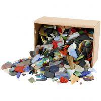 Tessere per mosaico, misura 15-60 mm, colori asst., 2 kg/ 1 conf.