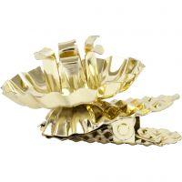 Clip per candela, diam: 40 mm, placcato oro, 8 pz/ 1 conf.