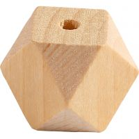 Perla a forma di diamante, L: 20 mm, misura buco 3 mm, 6 pz/ 1 conf.