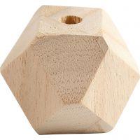 Perla a forma di diamante, L: 43 mm, misura buco 8 mm, 3 pz/ 1 conf.