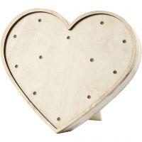 Light Box cuore, H: 21 cm, L: 23,5 cm, 2. sort, 1 pz