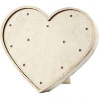Light Box cuore, H: 21 cm, P 3,5 cm, L: 23,5 cm, 1 pz