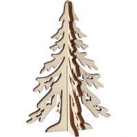 Albero di Natale, H: 12,5 cm, L: 8,5 cm, 1 pz