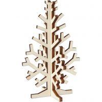 Albero di Natale, H: 12 cm, L: 7,5 cm, 1 pz