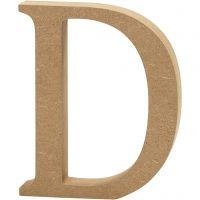 Lettera, D, H: 13 cm, spess. 2 cm, 1 pz