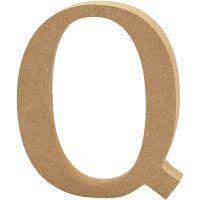 Lettera, Q, H: 13 cm, spess. 2 cm, 1 pz