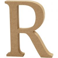 Lettera, R, H: 13 cm, spess. 2 cm, 1 pz