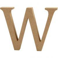 Lettera, W, H: 13 cm, spess. 2 cm, 1 pz