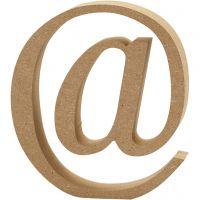 Simbolo in MDF, @, H: 13 cm, spess. 2 cm, 1 pz