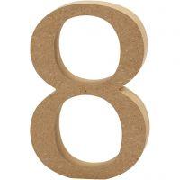 Numero, 8, H: 13 cm, spess. 2 cm, 1 pz