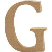 Lettera, G, H: 8 cm, spess. 1,5 cm, 1 pz
