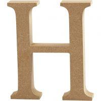 Lettera, H, H: 8 cm, spess. 1,5 cm, 1 pz