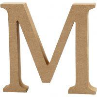 Lettera, M, H: 8 cm, spess. 1,5 cm, 1 pz