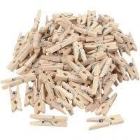 Mollette in legno, L: 25 mm, L: 3 mm, 100 pz/ 1 conf.