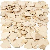 Cuori mosaico in legno, misura 18-30 mm, 60 pz/ 1 conf.