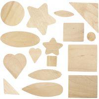 Forme mosaico in legno, misura 1,3-5,5 cm, 60 pz/ 1 conf.