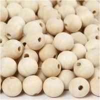 Perlina di legno, diam: 15 mm, misura buco 3 mm, 500 pz/ 1 conf.