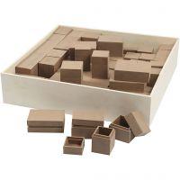 Scatole, H: 2,5-5 cm, 4x15 pz/ 1 conf.
