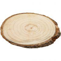 Fette di legno, misura 9,5x6 cm, spess. 6 mm, 12 pz/ 1 conf.