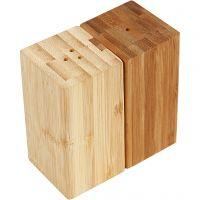 Set sale e pepe, H: 9 cm, L: 5 cm, misura buco 3 mm, 1 set