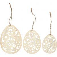 Ornamenti, H: 8+10+12 cm, L: 6+7,5+9 cm, spess. 3 mm, 3 pz/ 1 conf.