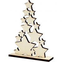 Albero di Natale, H: 19,6 cm, P 4 cm, L: 14,7 cm, 1 pz