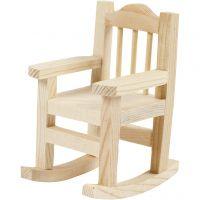 Sedia a dondolo, H: 8,8 cm, P 6,7 cm, L: 5,5 cm, 1 pz