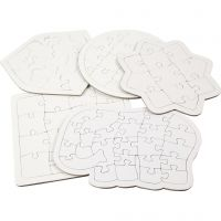 Puzzle, misura 17-21 cm, bianco, 10 pz/ 1 conf.