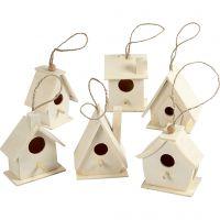 Casa per gli uccelli, H: 7 cm, 6 pz/ 1 conf.