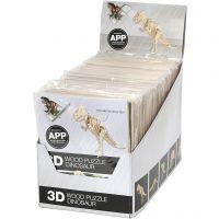 Kit costruzioni 3D in legno con app, H: 11,5-22 cm, 48 pz/ 1 conf.